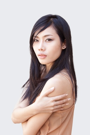 A portrait of beautiful Asian girl Stock Photo