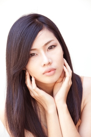 A portrait of beautiful Asian girl Stock Photo