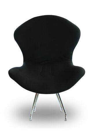Modern black chair on white isolated background photo