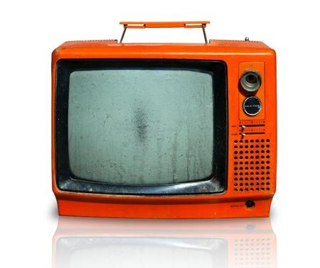 Rétro, le vieux téléviseur Banque d'images