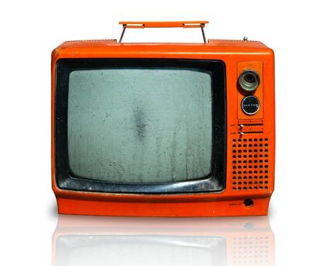 Retro, la vieja televisión Foto de archivo