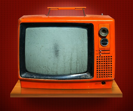 Retro, the old television photo