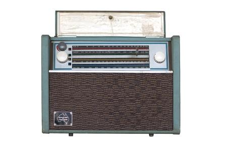 vintage radio isolated on the white background photo