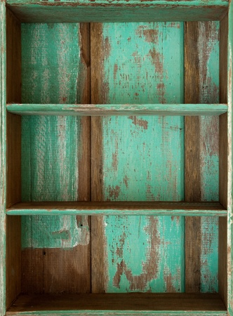 Vintage wooden shelf photo