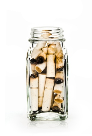 Cigarette in bottle photo