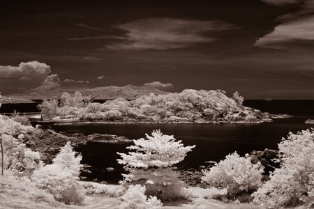 Koh Samui by infrared image the famous lanmark island in Thailand Stock Photo - 13590559