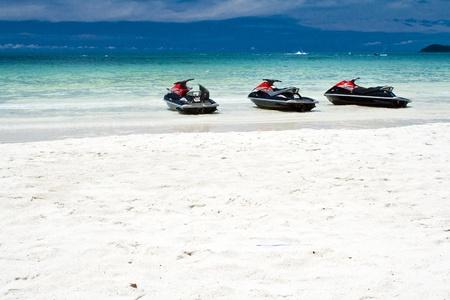 jet ski: Jet ski sur la plage