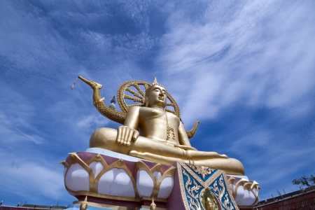 The golden big buddha at smui island, Thailand  photo