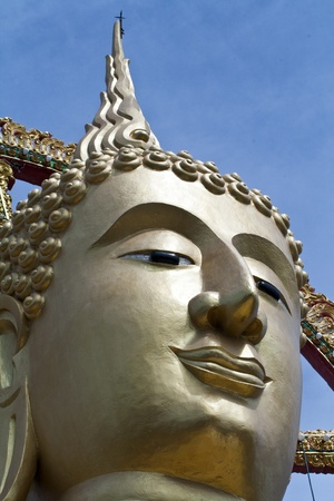The golden big buddha at smui island, Thailand  Stock Photo - 13623828