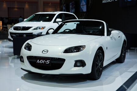NONTHABURI, THAILAND - MARCH 26: The new Mazda MX-5 showed in34th Bangkok International Motor Show on March, 2013 in Nonthaburi, Thailand