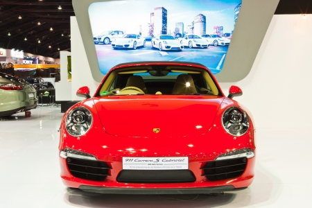 NONTHABURI, THAILAND - MARCH 26: Porsche 911 Carrera S Carbliolet 34th Bangkok International Motor Show on March, 2013 in Nonthaburi, Thailand