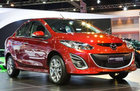 NONTHABURI, THAILAND - MARCH 26: The new Mazda 2 showed in 34th Bangkok International Motor Show on March, 2013 in Nonthaburi, Thailand
