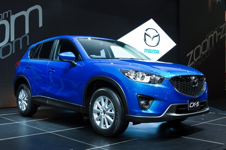 showed: NONTHABURI, THAILAND - MARCH 26: The new Mazda CX-5 showed in34th Bangkok International Motor Show on March, 2013 in Nonthaburi, Thailand
