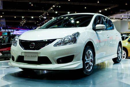 showed: NONTHABURI, THAILAND - MARCH 26 : Nissan Pulsar showed in 34th Bangkok International Motor Show on March, 2013 in Nonthaburi, Thailand Editorial