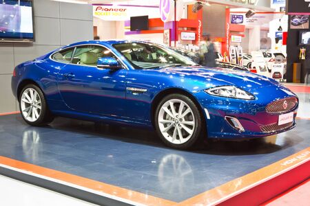 NONTHABURI, THAILAND - MARCH 26 : Jaguar XK showed in 34th Bangkok International Motor Show on March, 2013 in Nonthaburi, Thailand