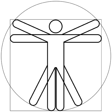 Vitruvian man as Leonardo Da Vinchi