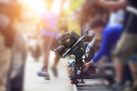 vdo: VDO grapher working with professional equipment in movie production.