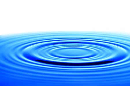 Splash of drop water in blue tone, blank space from above to create conceptual.