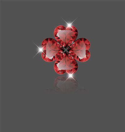 forme: forme de coeur rubis