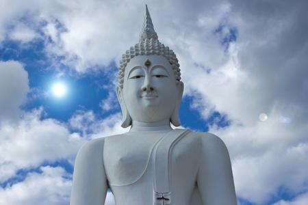 godhead: Buddha on the sky.  Stock Photo