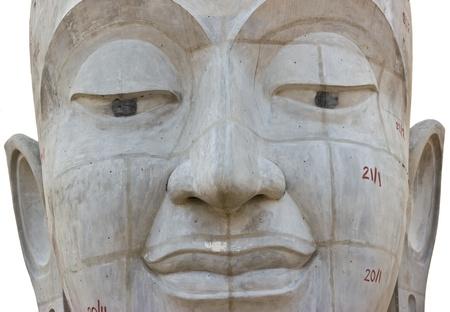A statue of Lord Buddha head Stock Photo - 13028289