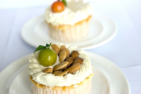 Close-up and cup cakes  photo