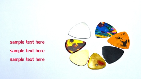 picks: Colorful guitar picks  Stock Photo