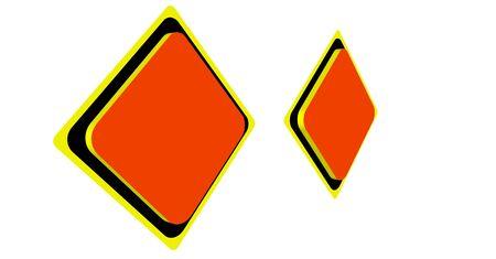 Orange warning label is blank  photo