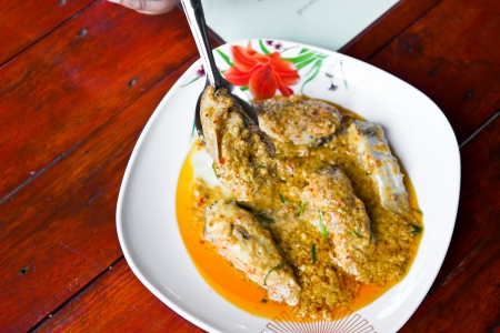 Thai soft fried fish  photo