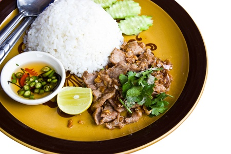Pork fried rice, Thai food  photo