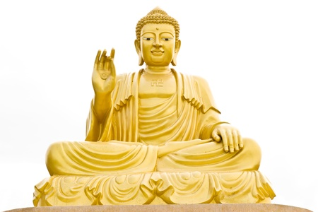 Buddha statues  On a white background  photo