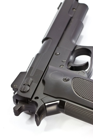 Closeup auto pistol  photo