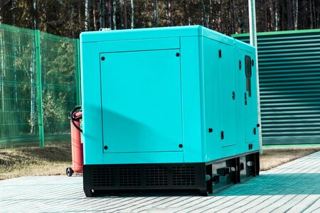 street lighting. industrial generator that generates current. reserve. there is tinting
