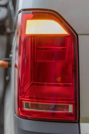 close-up. rear brake light, minibus vertical Reklamní fotografie