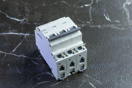 marble background. automatic circuit breaker. circuit breaker. 写真素材