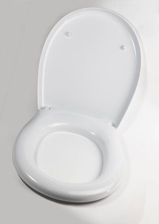 on a white background, a toilet lid. close-up. isolation