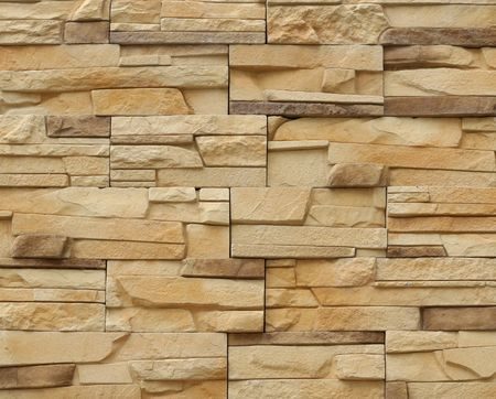 Stone structure of a wall close up Stock Photo