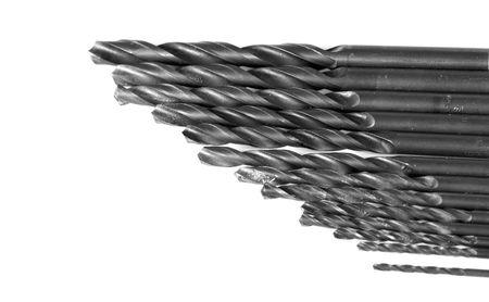 borer: Set of metal borer on a white background Stock Photo