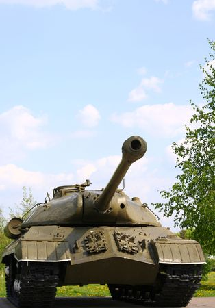 battalion: The Soviet tank of times of the Second World War IS-5 Stock Photo