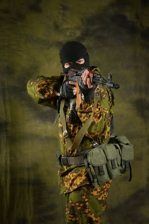 The soldier of group of a special forces.