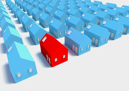 The Red House amongst The Blue,a picture for real-estate business
