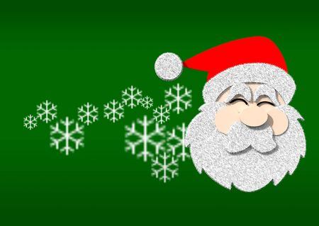 relief graphic santa photo
