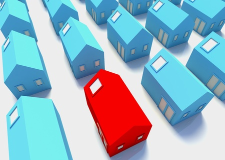 amongst: The Red House amongst The Blue,a picture for real-estate business