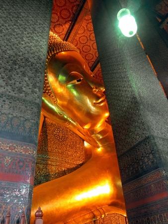 Stock Photo: Reclining Buddha, Wat Pho, Bangkok, Thailand  photo