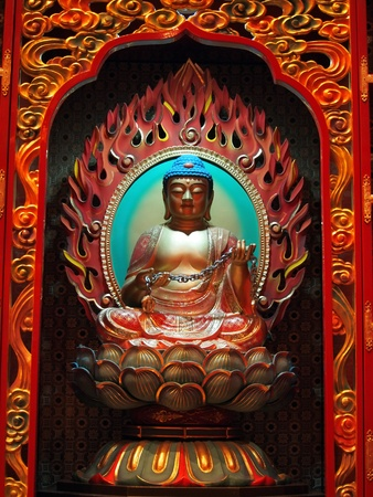 buddha in chinese temple       Stock Photo