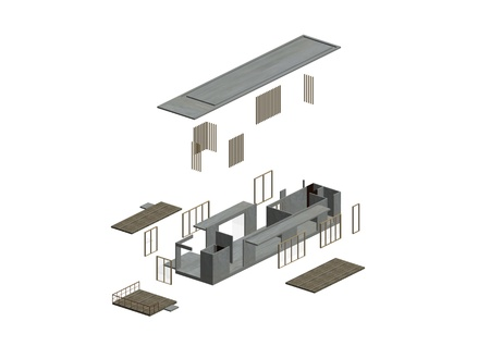 Architecture Exploded in axonometric photo