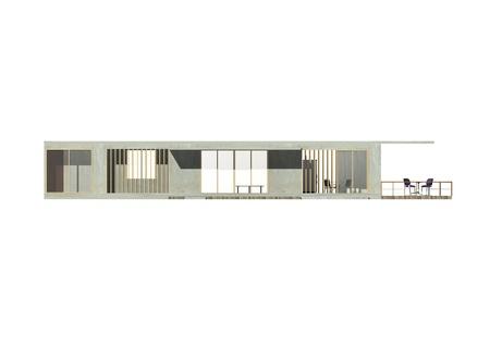 Arquitectura 3D Elevaci�n Foto de archivo - 11869546