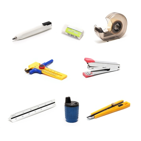 Architecture - drawing tools on white Stock Photo - 11869544