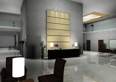modern design interior of hall,corridor. Standard-Bild