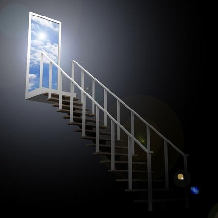Ladder leading up to the sky Standard-Bild